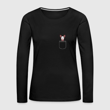 Pocket Dog - Women's Premium Long Sleeve T-Shirt