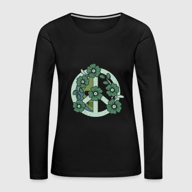 Peace Flowers love gift beautiful art present - Women's Premium Long Sleeve T-Shirt