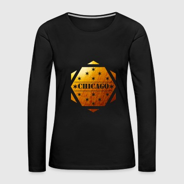 chicago golden design shirt summur shirt - Women's Premium Long Sleeve T-Shirt
