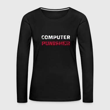 computer punisher distressed - Women's Premium Long Sleeve T-Shirt