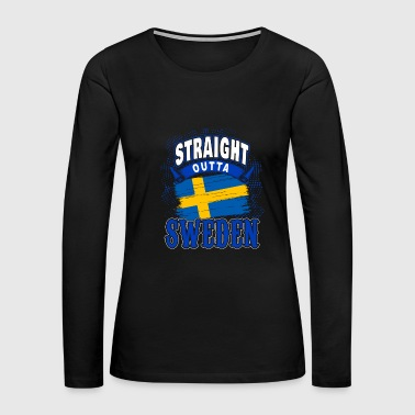 Sweden flag gift idea - Women's Premium Long Sleeve T-Shirt