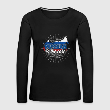 Russia Russian Core flag gift idea - Women's Premium Long Sleeve T-Shirt