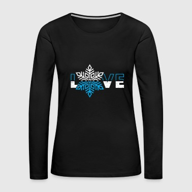 Love Snowflake christmas gift kids present - Women's Premium Long Sleeve T-Shirt