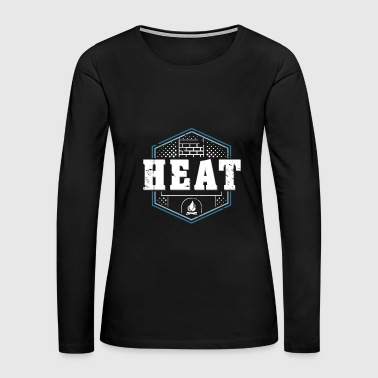 Heat Fireplace funny ugly christmas sweater gift - Women's Premium Long Sleeve T-Shirt