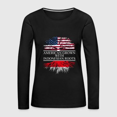 american grown with indonesian roots original - Women's Premium Long Sleeve T-Shirt