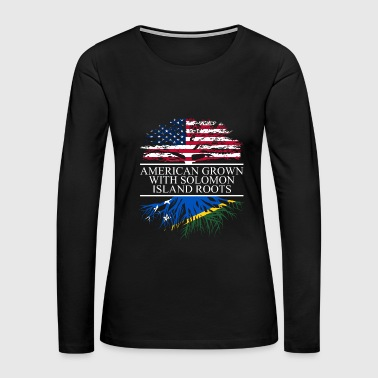 american grown with solomon island roots original - Women's Premium Long Sleeve T-Shirt