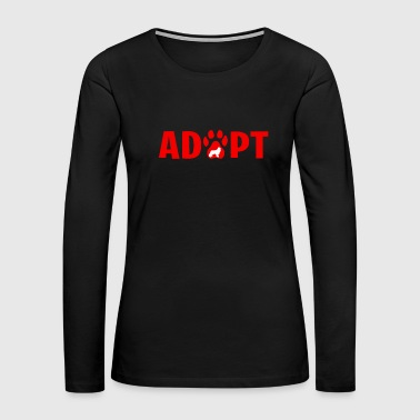 Adopt Dont Shop - Cocker Spaniel - Women's Premium Long Sleeve T-Shirt