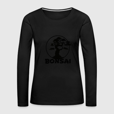 Japanese Bonsai Tree T-Shirt Graphic Bonsai Lover - Women's Premium Long Sleeve T-Shirt
