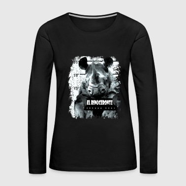 Animal Print - El Rinoceronte - Women's Premium Long Sleeve T-Shirt