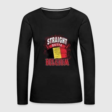 Belgium flag banner gift gift idea - Women's Premium Long Sleeve T-Shirt