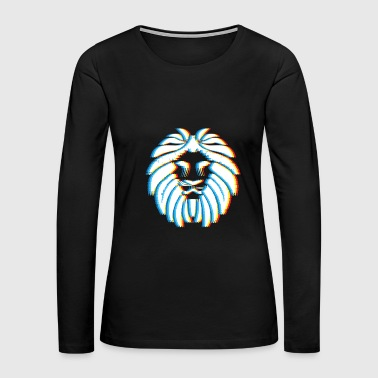Psychedelic Lion Gift for Big Cat and Animal Lovers - Women's Premium Long Sleeve T-Shirt