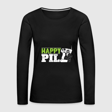 Happy Pill RC toy for men christmas gift kids - Women's Premium Long Sleeve T-Shirt