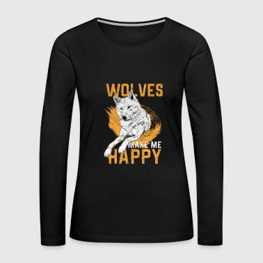 Wolf Hunt Animal Gift - Women's Premium Long Sleeve T-Shirt
