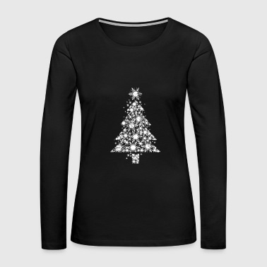Christmas Tree Ice Crystals ugly kids gift - Women's Premium Long Sleeve T-Shirt