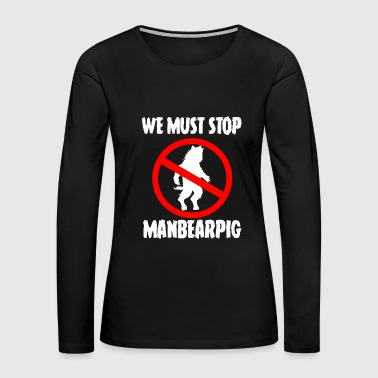 Yeti ManBearPig - Women's Premium Long Sleeve T-Shirt