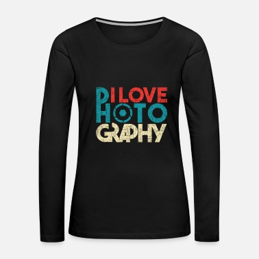 Portrait christmas photography SLR camera photographer - Women's Premium Long Sleeve T-Shirt