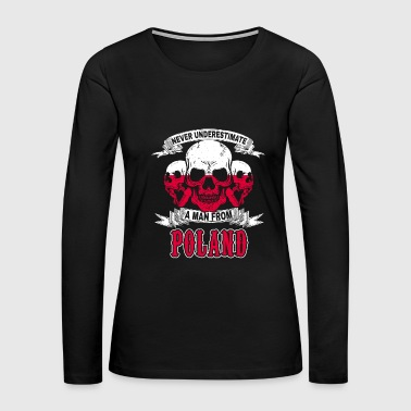 Poland Skull Poland Polish Warsaw Flag Banner gift idea - Women's Premium Long Sleeve T-Shirt