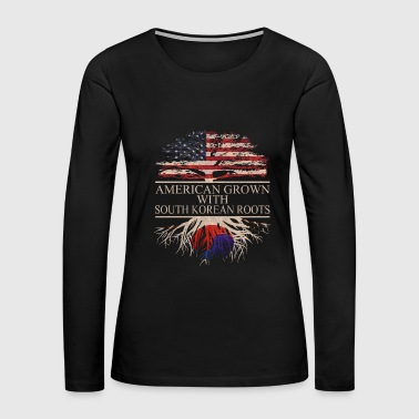 South Korea American grown with South Korean Roots - Women's Premium Long Sleeve T-Shirt