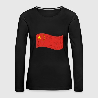 Oriental Waving Flag China gift Christmas birthday - Women's Premium Long Sleeve T-Shirt