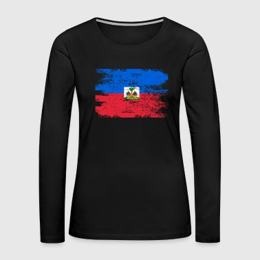 Haiti Flag Gift Country Patriotic Travel Shirt Americas Light - Women's Premium Long Sleeve T-Shirt