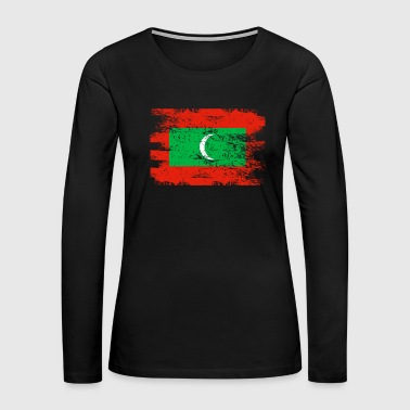 Maldives Shirt Gift Country Flag Patriotic Travel Asia Light - Women's Premium Long Sleeve T-Shirt