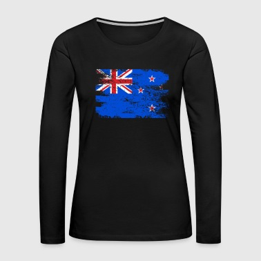 New Zealand Shirt Gift Country Flag Patriotic Travel Oceania Light - Women's Premium Long Sleeve T-Shirt