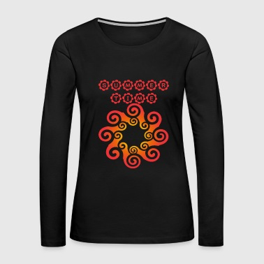 summertime - sunshine (ornament, red) - Women's Premium Long Sleeve T-Shirt