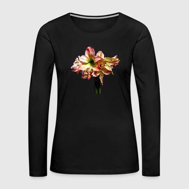 A Lovely Pink And White Amaryllis - Women's Premium Long Sleeve T-Shirt