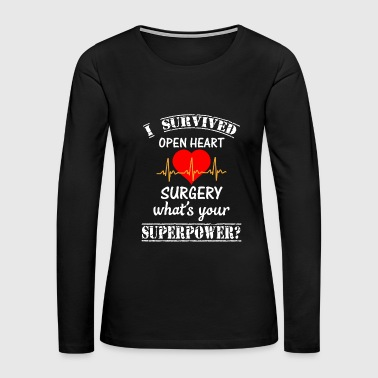 Disease Love - i survived open heart surgery what's your - Women's Premium Long Sleeve T-Shirt