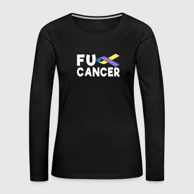 Fck Cancer Shirt bladder cancer - Women's Premium Long Sleeve T-Shirt