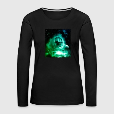 Pug In Space Shirt Pug Astronaut Galaxy Cosmic Trippy Tshirt - Women's Premium Long Sleeve T-Shirt