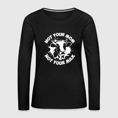 Vegan Veganism Vegetarian Vegetarians Veggies Milk - Women's Premium Long Sleeve T-Shirt