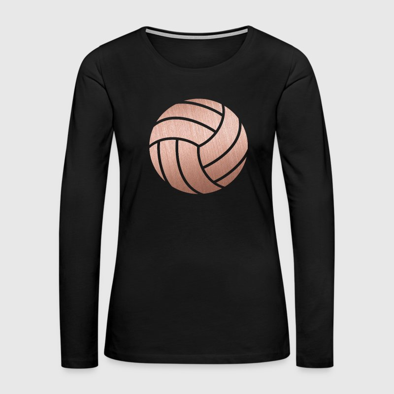 Rose Gold Volleyball - Women's Premium Long Sleeve T-Shirt