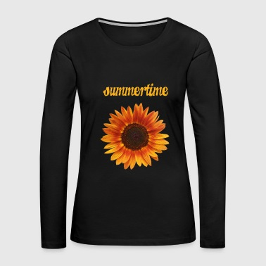 summertime - beautiful sunflower blossom - Women's Premium Long Sleeve T-Shirt