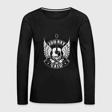 Johnny Johnny cash - Awesome guitarist t-shirt for fans - Women's Premium Long Sleeve T-Shirt