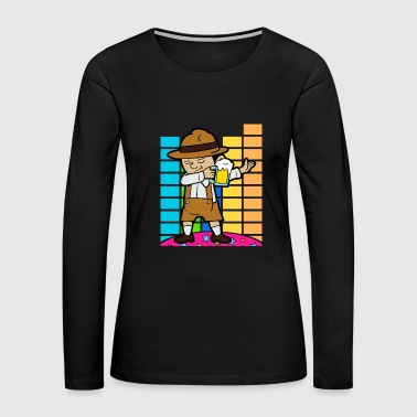 Oktoberfest Disco Party Music Beer Festival German - Women's Premium Long Sleeve T-Shirt