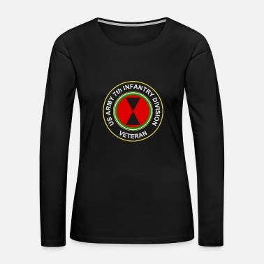 Infantry US Army 7th Infantry Division Veteran - Women's Premium Long Sleeve T-Shirt