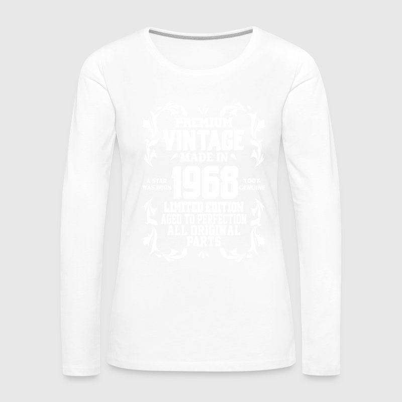 Annata 1968 Manica Lunga T-shirt FDKFh6pK