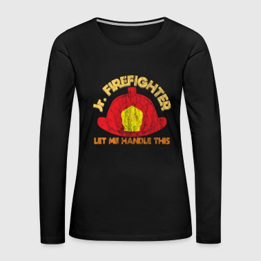 Emergency Firefighter Junior work job gift - Women's Premium Long Sleeve T-Shirt