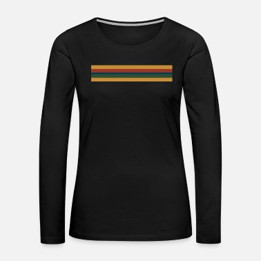 Doctor 13th Doctor Rainbow Stripe - Women's Premium Long Sleeve T-Shirt