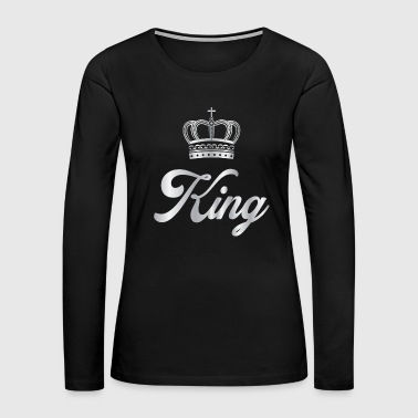 Silver Crown Silver Crowns Lifestyle King Prince G - Women's Premium Long Sleeve T-Shirt