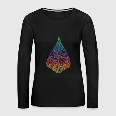 bean leaf colorful ornaments gift idea psychedelic - Women's Premium Long Sleeve T-Shirt