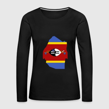 Swaziland Swaziland Flag Map - Women's Premium Long Sleeve T-Shirt