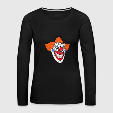 Halloween Horror Clown Monster Zombie Scary - Women's Premium Long Sleeve T-Shirt