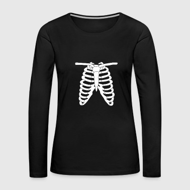 Skeleton Costume Costume - Skeleton Ribcage Halloween Costume An - Women's Premium Long Sleeve T-Shirt