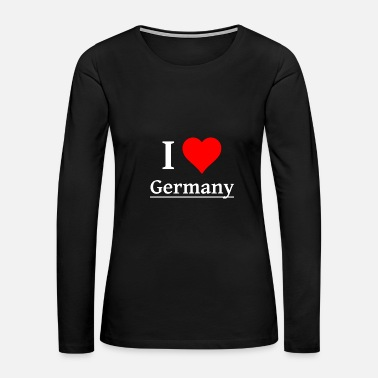 ILOVE Germany - Women's Premium Long Sleeve T-Shirt