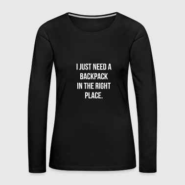 Life laugh character funny gift humor luck - Women's Premium Long Sleeve T-Shirt