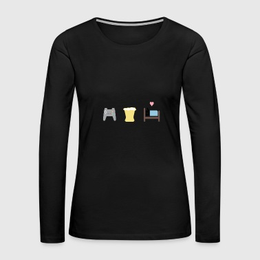 Gaming beer sex yeah - Women's Premium Long Sleeve T-Shirt