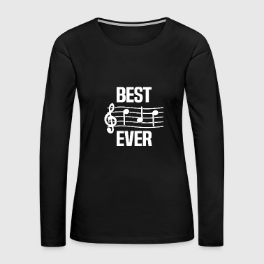 Dad - men's best dad ever music - notes funny f - Women's Premium Long Sleeve T-Shirt