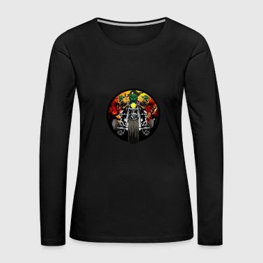 Zombie Biker - Women's Premium Long Sleeve T-Shirt